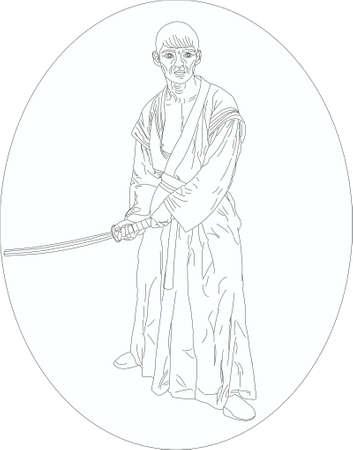 battle evil: the Samurai with a sword