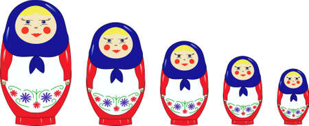 russian doll: Nested dolls standing on growth