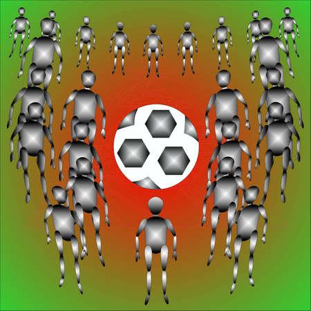 sacramentale: Il calcio ed � un sacco di gente, astrazione