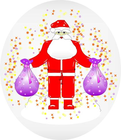 Santa Claus with gifts Stock Vector - 15912677