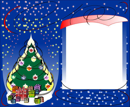Christmas background with a place for the text Stock Vector - 16526971