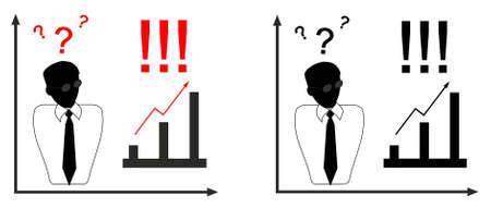 Business concept, development, decision search  Two options