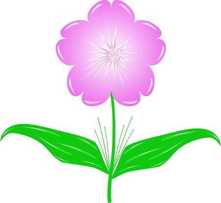 Lilac floret Stock Illustratie
