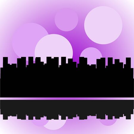 City silhouette, vector