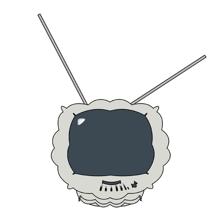TV of silvery color, vector Illustration