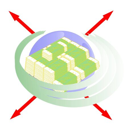 role of money on a planet Earth Illustration