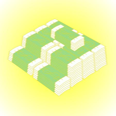 packs of dollars