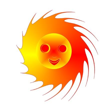 Cheerful sun, vector