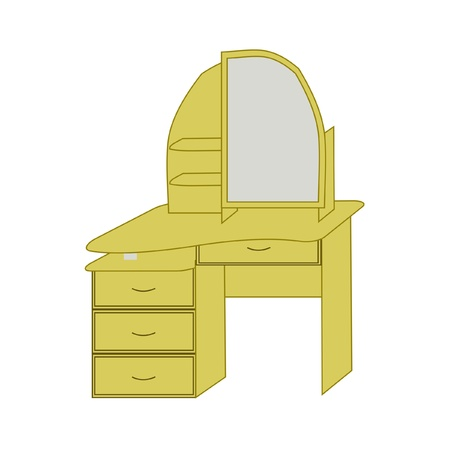 Dressing table of light color, vector
