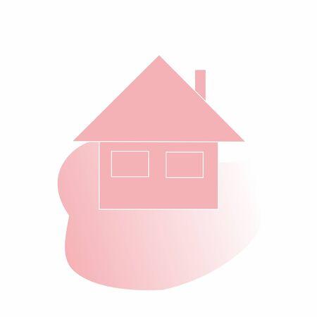 Pink lodge, vector
