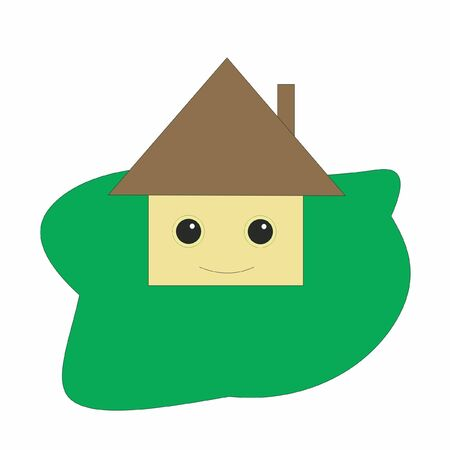 lodge with eyes,  vector
