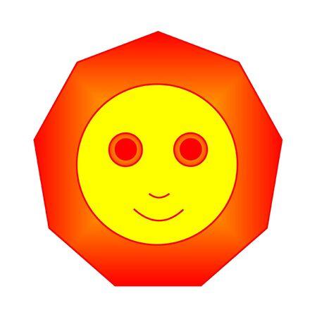 sun smiles, vector