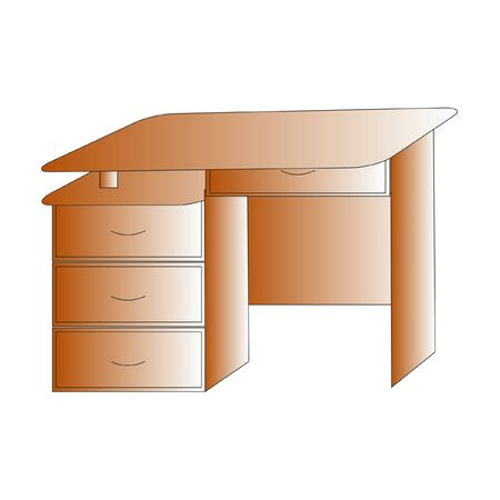 desktop of light brown color, vector Illustration