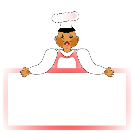 cook with copy space, vector
