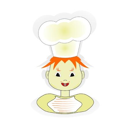 scullion in a cap, vector Illustration