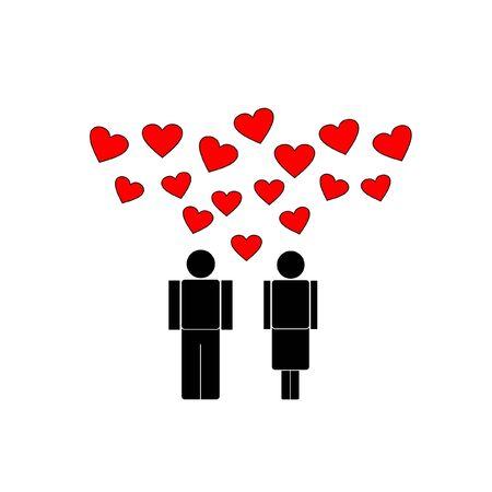 love, vector  Stock Illustratie