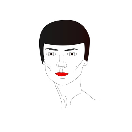 face of the young man, vector Illustration