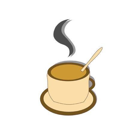 cup of coffee, vector Stock Illustratie