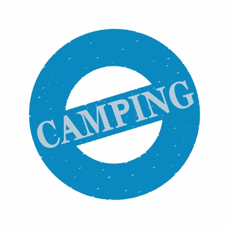 press with an inscription the CAMPING,  vector Stock Illustratie