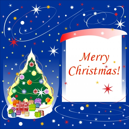 card of Merry Christmas