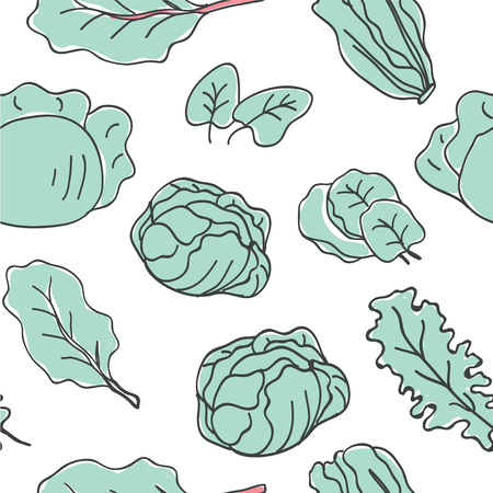 Ketogenic food vector seamless pattern. Healthy keto food doodles - fats, proteins and carbs on vector pattern. Seamless pattern with low carbs keto diet food objects. Keto seamless pattern - Vector