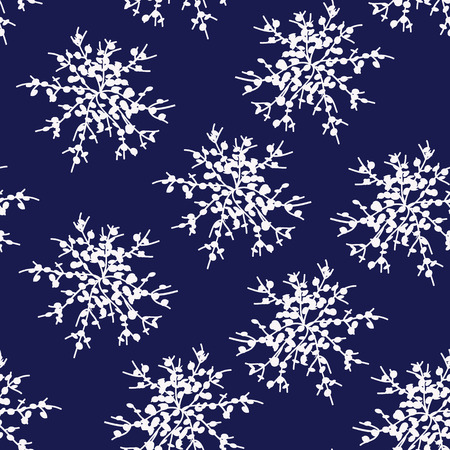 Decorative vector Snowflakes or flower set - winter series clip-art. Surface Pattern.