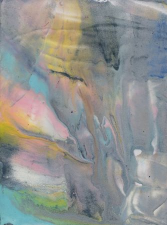 Abstract texture, encaustic or water color look, cold colors, frost, spring or winter. Blue amd pink and yellow soft tones.