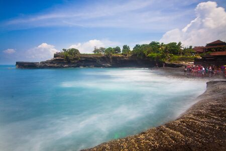 Tanah Lot Bali Indonesia Seascape in Slow Shutter mode