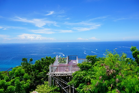 Boracay View from Mt Luho in Akhlan Phiippnines Stock Photo