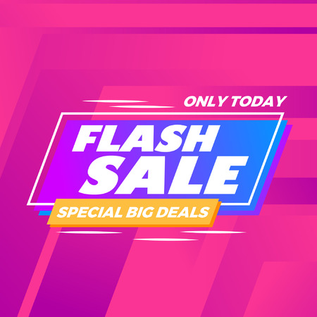 Abstract colorful flash sale modern background