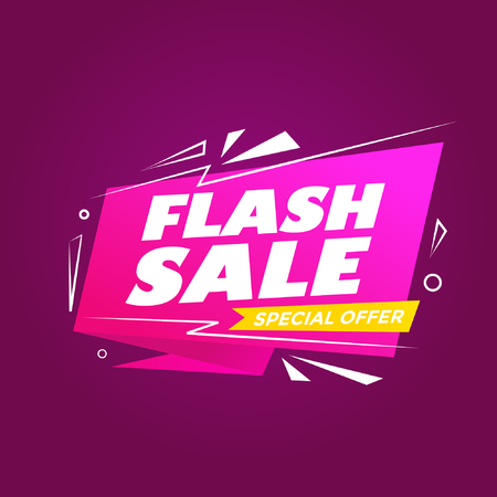 Abstract colorful flash sale modern background Ilustrace