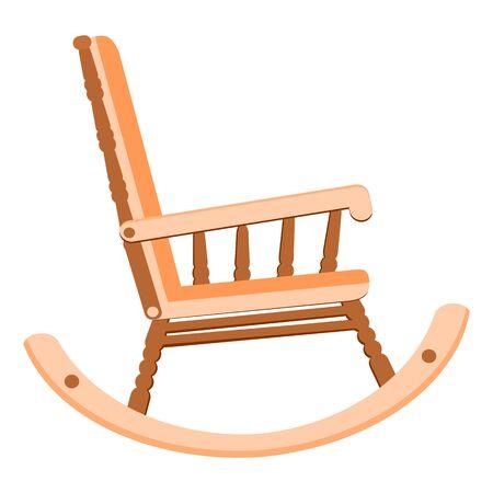 rocking chair illustration flat style