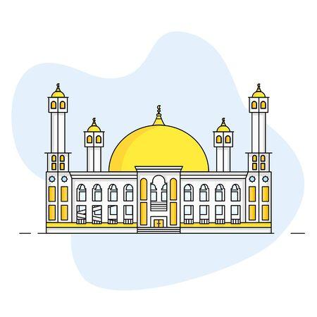 Mosque Illustration Design Flat Style Part 1