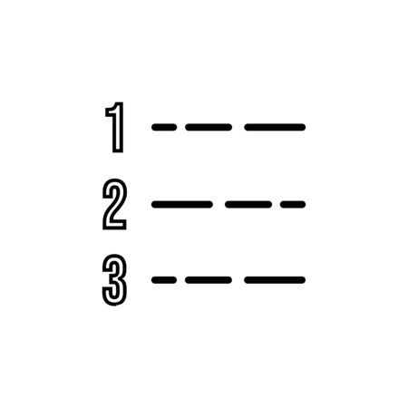 number list icon design line style. Perfect for application, web, logo and presentation template