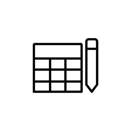 custom table icon design line style. Perfect for application, web, logo and presentation template Illustration