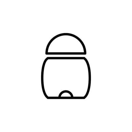 full trash icon design line style. Perfect for application, web, logo and presentation template Illustration