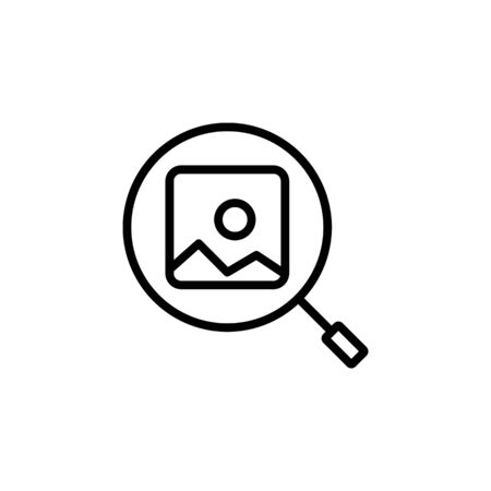 find image icon design line style. Perfect for application, web, logo and presentation template Illustration