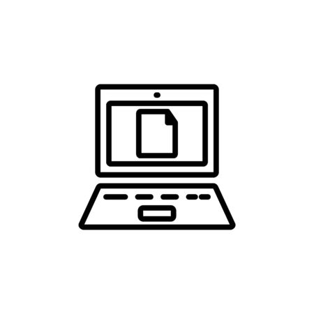 laptop mode icon design line style. Perfect for application, web, logo and presentation template Illustration