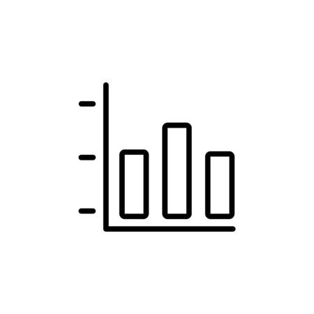 graph horizontal icon design line style. Perfect for application, web, logo and presentation template