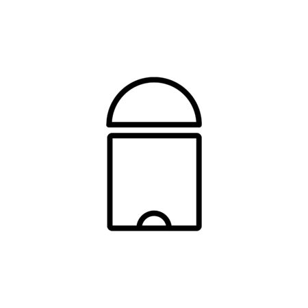 empty trash icon design line style. Perfect for application, web, logo and presentation template Illustration