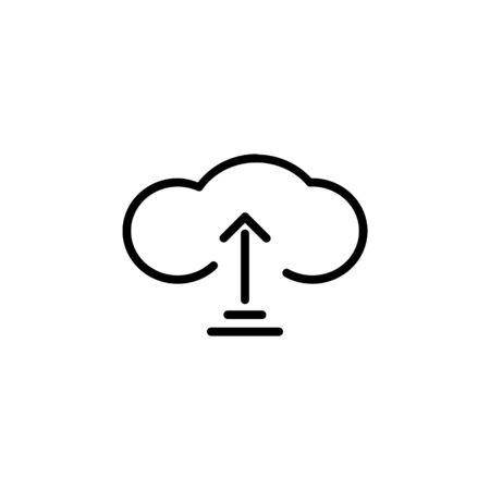 save as cloud storage icon design line style. Perfect for application, web, logo and presentation template