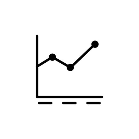 line graph icon design line style. Perfect for application, web, logo and presentation template