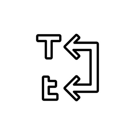 convert capital text to lowercase text icon design line style. Perfect for application, web, logo and presentation template Illustration