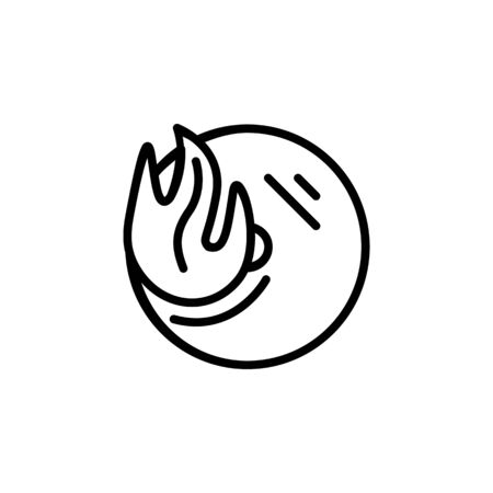 burn disk icon design line style. Perfect for application, web, logo and presentation template