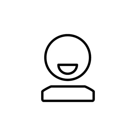 user icon design line style. Perfect for application, web, logo and presentation template Illustration