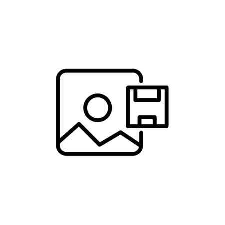 save as image icon design line style. Perfect for application, web, logo and presentation template Illustration