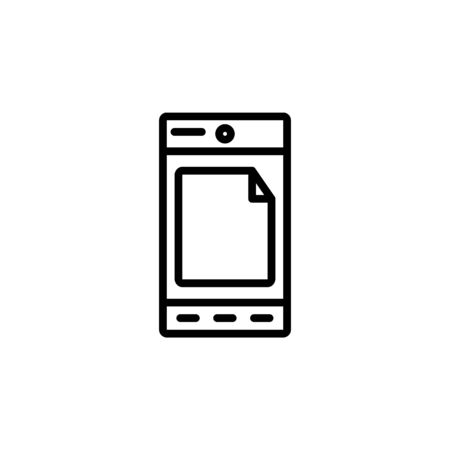android mode icon design line style. Perfect for application, web, logo and presentation template