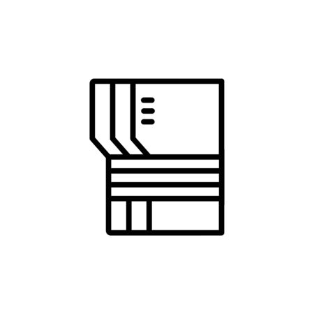 archive icon design line style. Perfect for application, web, logo and presentation template