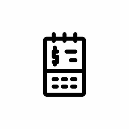 finance icon, calendar icon design line style. Perfect for application, web, logo and presentation template