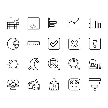 application icon set design line style part 5. Perfect for application, web, logo and presentation template